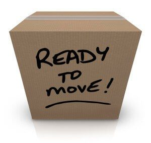 Box that is ready for residential moving around Cleveland, OH